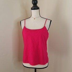 Chicos pink built in bra cami tank top 2 S